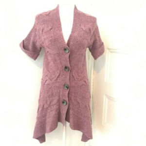 Anthropologie Moth Cabled Cardigan Sweater Tunic